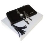 "Zestaw CPLM310 – portmonetka CEL310 ""Pompadour Noir"" + zegarek CMM310 ""Pompadour Noir"""