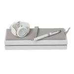 """Zestaw CPBM4165 – zegarek CMG1651 """"Gomme White"""" + długopis z touchpenem CSM4414 """"Mini Colombes Blanc"""""""