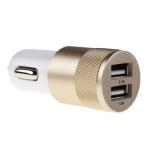 Metalowa ładowarka samochodowa x2 USB