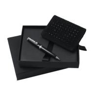 Zestaw etui na wizytówki + długopis seria Goccia