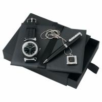 Zestaw pendrive i zegarek seria Diadema Black + długopis Goccia