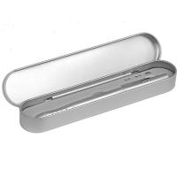 Długopis ze wskaźnikiem laserowym Combo – 4 w 1, srebrny