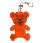 Brelok odblaskowy Teddy, pomarańczowy