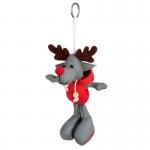 Brelok odblaskowy Reindeer, szary/czerwony