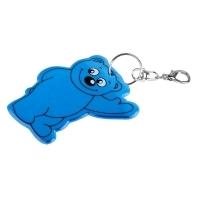 Brelok odblaskowy Beary, niebieski