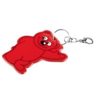 Brelok odblaskowy Beary, czerwony