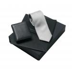 Zestaw LPCT426 - krawat LFC426 + skórzany wizytownik LLC426