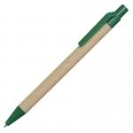 Długopis Eco, zielony/brązowy