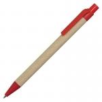 Długopis Eco, czerwony/brązowy