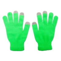 Rękawiczki Touch Control do urządzeń sterowanych dotykowo, zielony