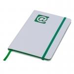 Notes 130x210/80k gładki @, zielony/biały