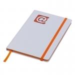 Notes 130x210/80k gładki @, pomarańczowy/biały