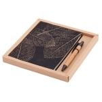 Zestaw Porto - notes z długopisem, brązowy