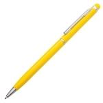 Długopis aluminiowy Touch Tip, żółty