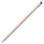 Ołówek z gumką, czerwony/ecru