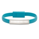 Kabel USB Bracelet, jasnoniebieski