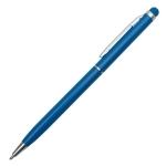 Długopis aluminiowy Touch Tip, jasnoniebieski