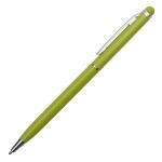 Długopis aluminiowy Touch Tip, jasnozielony