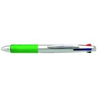 Plastikowy długopis z 4 wkładami SETUBAL