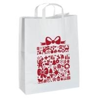 Duża torebka świąteczna z papieru