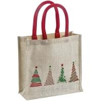 Świąteczna torba z juty