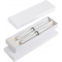Zestaw: metalowy długopis i pióro kulkowe w eleganckim pudełku