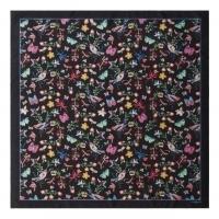 Silk scarf Butterfly Black