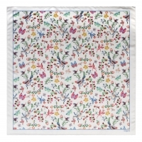 Silk scarf Butterfly White