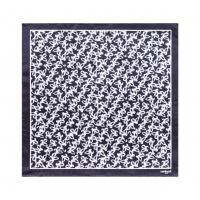 Silk scarf Hirondelle Navy