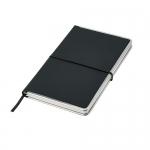 Notes A5 w twardej oprawie z metalowymi krawędziami i kieszenią