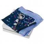 Zestaw CPBKM515 - brelok CAK515 Blossom + apaszka  CFM514 Tourbillon Bleu + długopis CSC5444 Tourbillon Bleu