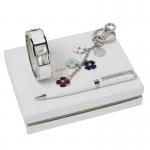 Zestaw CPBKN552 - brelok CAK515 Blossom + zegarek CMN552 Tourbillon Blanc + długopis CSC5424 Tourbillon Blanc