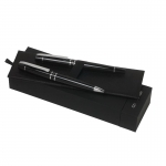 Zestaw NPBR565 - długopis NST5654 Editorial Black + pióro kulkowe NST5655 Editorial Black