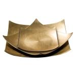 Zestaw złotych talerzyków