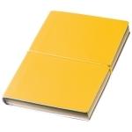 Notes z kolorowymi kartkami i gumką