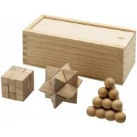 Zestaw łamigłówek drewnianych braniac